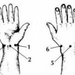 меридианы на руках, акупунктурные точки-пособники на руках, Накатани