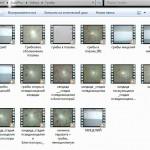 Видеогалерея. Образец страницы с файлами