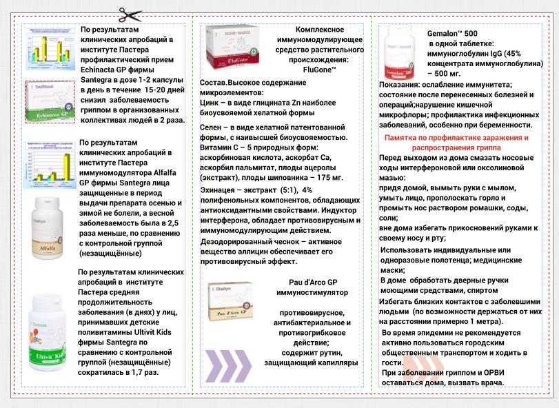 Памятка по профилактике гриппа и ОРВИ