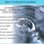 Основные параметры питьевой воды